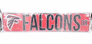 Atlanta Falcons DR Licensed NFL Distressed Street Aluminum Wall Man Cave Sign
