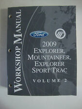 2009 Ford Workshop Manual Explorer Sport Trac Mountaineer Volume 2 Repair Book