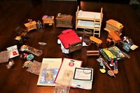 Miniature Dollhouse Wooden Furniture & Accessories Lot of 40 pcs.