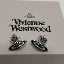 Vivienne Westwood Jack Enamel Blue Black Earrings