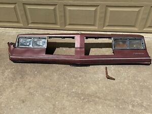 1981-1986 Cutlass Header Panel Grill Surround Headlight Bezels Bumper Filler