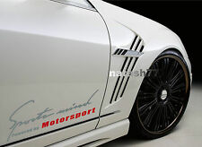 Sports mind Powered by Motorsport car Vinyl Decal sticker SILVER/RED (Fits: BMW