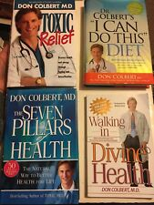 Don Colbert Lot 4 Books 7 Pillars I Can Do This Diet Toxic Relief Divine Health