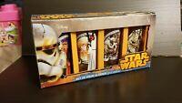 Star Wars Set Of 4 Collectible 10 Oz Vandor Glasses Luke, Leia, Vader, Han Solo