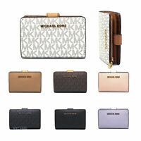 New Michael Kors Jet Set Bifold Zip Coin Wallet