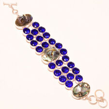 "Creative Abalone Shell, Tanzanite Quartz Handmade Bracelet S-7"" To 9"""