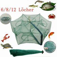 6/8/12 Löcher Faltbar Fischernetz Köderfischsenke Angelnetz Senknetz Netz Nylon