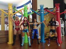 LOT 7 Bayley Tubeman AJ Lee Sasha Banks Charlotte Figure WWE NXT Takeover Target