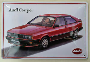 Audi Blechschild, Audi Coupe, 20x 30cm