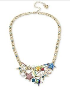 $52 BETSEY JOHNSON    Mystic Baroque PEARL STAR STATEMENT NECKLACE F1S