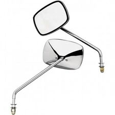 Mirrors long stem bolt-on left and right chrome - Emgo 20-21705