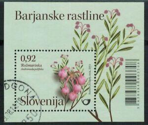 Lot 4475 - Slovenia 2011 €0.92 Marsh plants - Bog Rosemary used miniature sheet