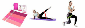 Glosell Fitness Resistance Loop Exercise Bands,Natural Pink Comb Set of 4