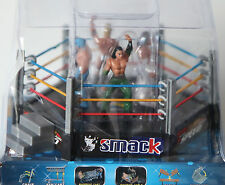 NUOVO giocattolo Wrestling Ring con 4 cifre TOTAL NONSTOP ACTION Crash & Bash Play Set