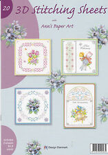 Ann's Paper Art No.20 3D Embroidery Stitching Decoupage Sheets Paperback Booklet
