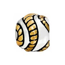 New Brighton ENTWINE Gold Silver Bead Charm  RETIRED !
