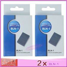 2 x BLN-1 BLN1 Battery For OLYMPUS E-M5 E-P5 OM-D E-M1 EM5 OMD EP5 BCN-1 Charger