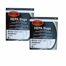 12 hapa bag fit Riccar 8000 8900 Simplicity B vacuum bags