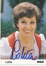 Lolita † 2010  Musik Autogrammkarte original signiert 365099