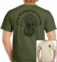 Royal Regiment of Fusiliers T-Shirt British Army Forces Unisex TEE TOP Cap Badge