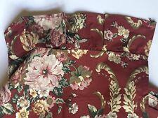 NEW RALPH LAUREN *Marseille Floral TWIN Bedding Ruffled FLAT Sheet *ROSES Red