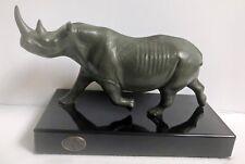John Perry Black Rhino Statue  VGC