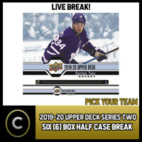 2019-20 UPPER DECK SERIES 2 HOCKEY 6 BOX HALF CASE BREAK #H574 - PICK YOUR TEAM