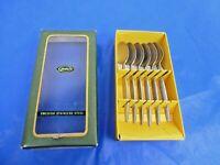 Vintage Boxed GENSE Swedish Stainless Steel Focus 6 Coffee Spoons 20206