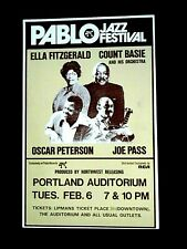 Ella Fitzgerald - Joe Pass - Count Basie: Boxer Style Concert Poster -1973