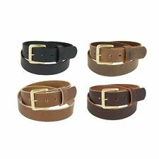 "Men's_Buffalo Leather Belt_1 1/2"" wide_Amish Handmade_SOLID BRASS Buckle_131"