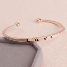 Women Love Bracelet Cuff Bangles Fashion Rose Gold Screw Hand Wedding