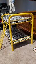 American Girl Doll Vintage Yellow Bunk Beds Striped Mattress Pillows