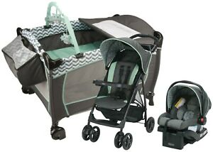 Newborn Baby Stroller with Car Seat Travel System Toddler Infant Playard Combo