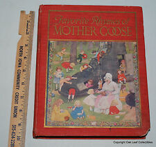 Favorite Rhymes by Mother Goose 1923 Hardback Book!