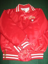 VTG San Francisco 49ers RED Satin Jacket ChalkLine Youth M 14-16
