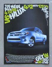 TOYOTA HILUX SR5 4.0 V6 CAB Auto Car Magazine Page Sales Advertisement Brochure