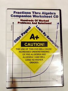 Fractions Thru Algebra Companion Worksheet DVD 2008 By Jason Gibson