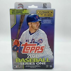 Topps 2020 Series 1 Baseball Hanger Box 67 Cards RHYS Hoskins Exclusives MLB