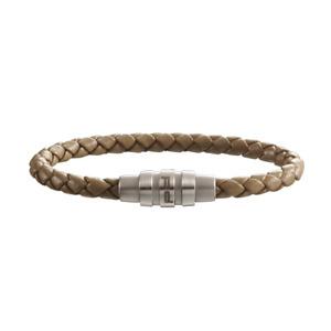 Porsche Design Bracelet Grooves stainless steel,cow leather brown 18cm 19cm*NEW*