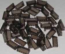 LEGO LOT OF 50 TRANS BLACK WINDSCREENS 2 x 6 x 2 CAR VEHICLE WINDOWS PARTS