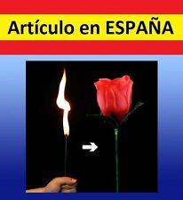 ROSA de FUEGO truco MAGIA roja plastico flor juguete niños fiestas trick magica