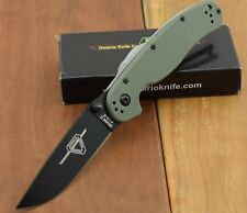 ON8861OD Couteau ONTARIO RAT II OD Green Lame Acier AUS8 Manche Nylon