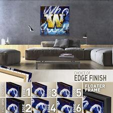 "36""x36"" W by RODNEY WHITE LETTER ALPHABET GICLEE CANVAS"