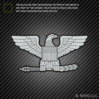 Rank Colonel Eagle Shaped Sticker Die Cut Vinyl insignia
