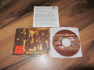 MR BIG Wild World OOP 1993 GERMANY CD single + german promo infosheet