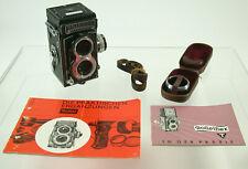 Rolleiflex t 6x6 TLR Black Zeiss Tessar 3,5/75 Rollei exposure metros iconic/18