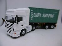 OXFORD DIECAST HAULAGE  SCANIA TRUCK D Tec TRAILER China Shipping Container 1/76