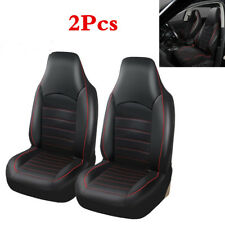PU Leather Front 2 Seat Covers Universal Seat Bucket Protector Cover For Cars