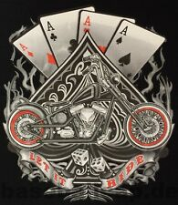 T-Shirt #293-18 LET IT RIDE ACES CHOPPER, Biker-Motorradfahrer-Shirt Custombike