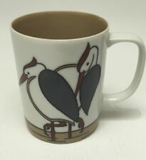Vintage Fitz And Floyd Art Deco Variations Heron Pelican Mug
